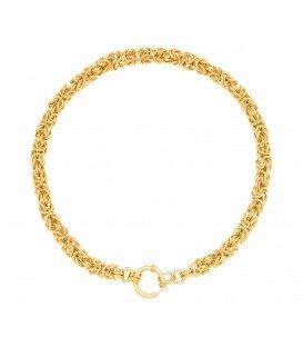Goudkleurige halsketting in geknoopte stijl