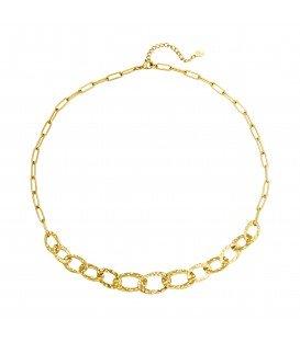 goudkleurige halsketting met mooie schakels