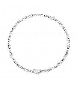 zilverkleurige simpele chain ketting