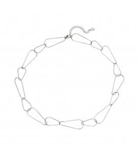 zilverkleurige ketting met speciaal gevormde clips