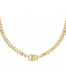 goudkleurige chain ketting met verbonden ringetjes