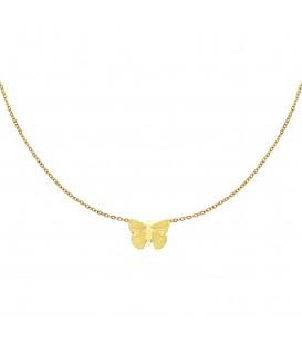 goudkleurige ketting met een vlinder