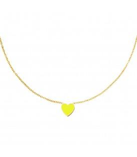 goudkleurige halsketting met een gele hart