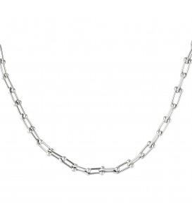 zilverkleurige halsketting in kettingstijl