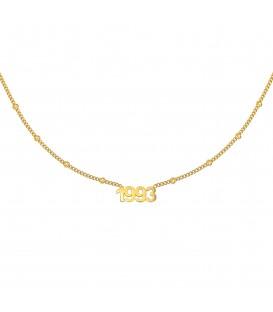 goudkleurige halsketting met jaartal 1993