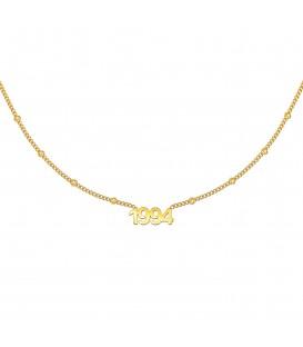 goudkleurige halsketting met jaartal 1994